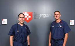 The Emergency Center's Dr. Eric Wilke and Dr. Jeff Erdner