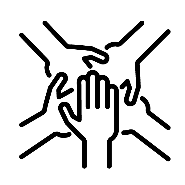 Accountability - Five Hands Meeting In The Middle Icon