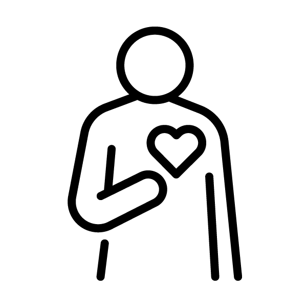 Empathy - Person Pointing To Their Heart Icon