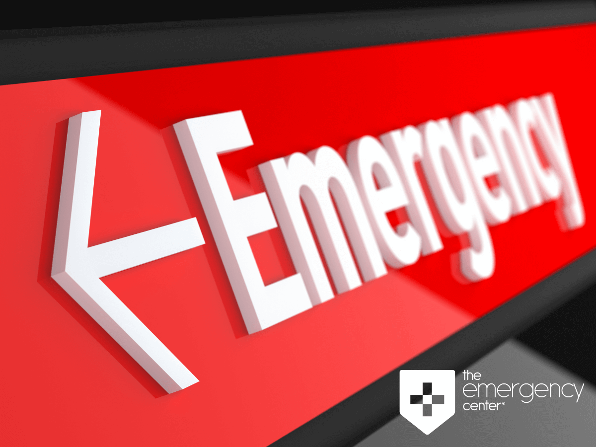 Emergency sign at the Emergency Center