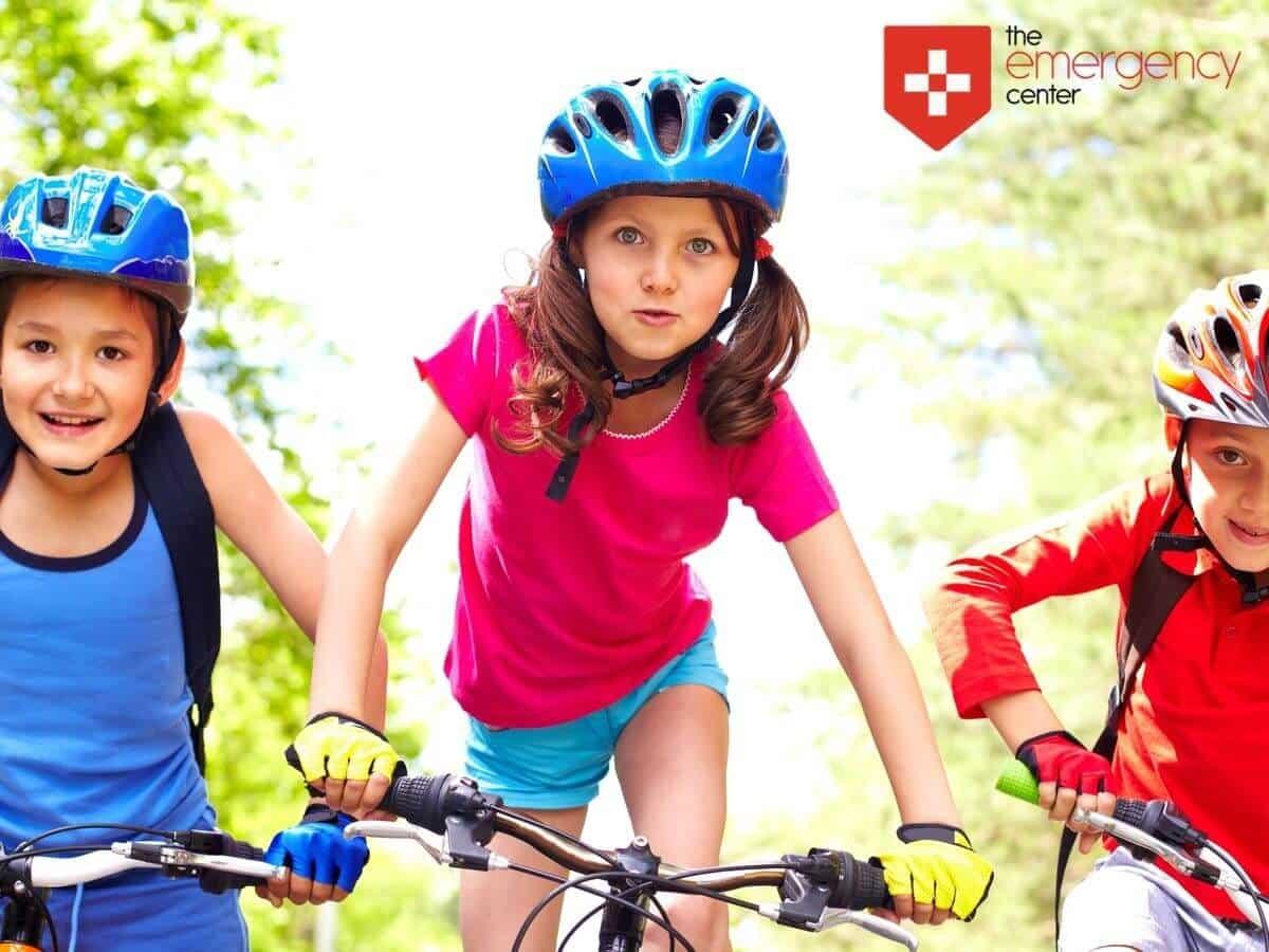 Kids riding a bike, practicing healthy habits In San Antonio, TX